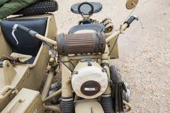 Forças armadas do side-car imagens de stock