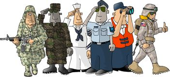 Forças armadas dos E.U. Imagens de Stock