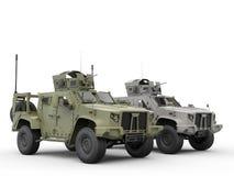 Forças armadas todos os veículos táticos do terreno - verde e cinza ilustração do vetor