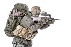 Forças especiais de Austrian do soldado de Jagdkommando imagem de stock royalty free