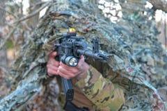 Forças especiais do terno de Ghilli Foto de Stock