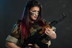Forças especiais fêmeas Imagens de Stock