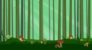 Forêt abstraite de pin Photographie stock libre de droits