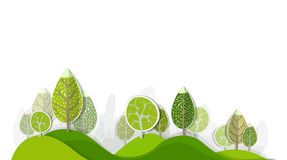 Forêt abstraite, ensemble Images stock