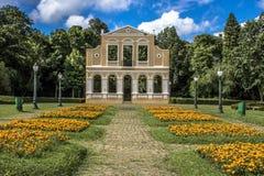 Forêt allemande dans la place de la poésie germanique dans Curitiba image libre de droits