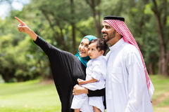 Forêt Arabe de famille Images stock