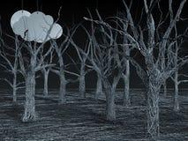 Forêt bleue de fil Image stock
