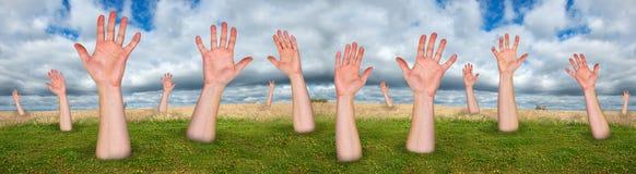 Forêt d'arbres faits de mains, Ba abstrait de concept Photos libres de droits