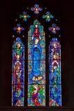 FORÊT D'ASHDOWN, SUSSEX/UK - 29 OCTOBRE : Fenêtre en verre teinté dedans Photographie stock libre de droits