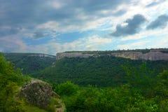 Forêt de ciel de montagne de paysage Photos stock