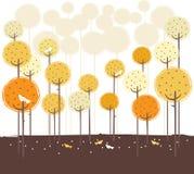 forêt de conception rétro Image libre de droits