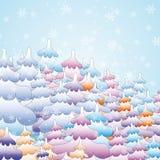 Forêt de conte de fées de l'hiver Image libre de droits