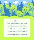 Forêt de dessin animé. Photographie stock