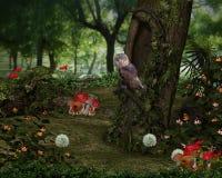 Forêt de féerie Photos libres de droits