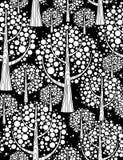 Forêt de l'hiver. Fond sans joint. illustration stock