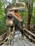 Forêt de Monolophosaurus Image stock