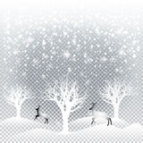 Forêt de Noël illustration stock
