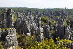 Forêt de pierre de Shilin à Kunming, Yunnan, Chine Image stock
