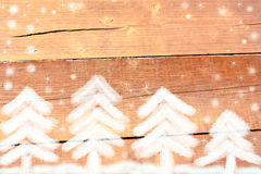 Forêt de sapin blanc en hiver photo stock