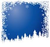 Forêt en hiver illustration stock