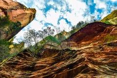 Forêt et montagnes dans Sedona, Arizona photo libre de droits