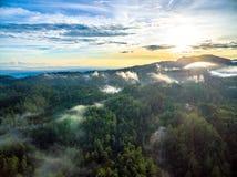 Forêt et montagnes de Puebla Photographie stock