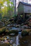 Forêt et moulin d'automne Photos libres de droits
