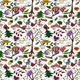 Forêt gribouillante de conception Image stock