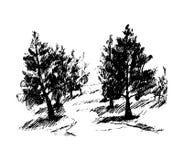Forêt, illustration Image libre de droits