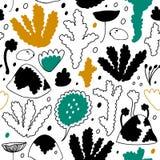 Forêt nordique d'hiver, modèle sans couture scandinave de vecteur Fond décoratif de cosiness illustration de vecteur