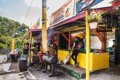 Forêt tropicale Porto Rico d'EL Yunque de support de nourriture Image stock