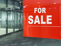 For Sale. Empty Shop. Royalty Free Stock Image