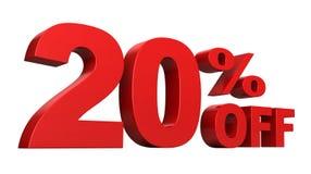 20% fora ilustração do vetor
