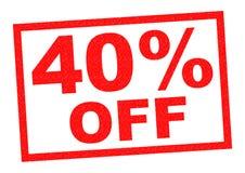 40% fora imagem de stock royalty free