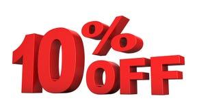 10% fora Imagens de Stock