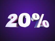 20% fora Imagens de Stock Royalty Free