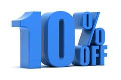 10% fora Foto de Stock