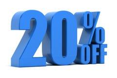 20% fora ilustração royalty free