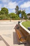 Fora benches e embandeira o parque San Diego Ca do balboa Imagens de Stock Royalty Free