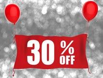 30% fora da bandeira Fotografia de Stock Royalty Free
