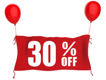 30% fora da bandeira Imagem de Stock