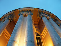 Fora da basílica do ` s do ósmio St Peter da abóbada em Roma, exterior do ` s da cúpula Fotografia de Stock