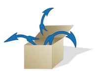 Fora da caixa ilustração do vetor