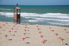 Fora da praia da estação Imagem de Stock