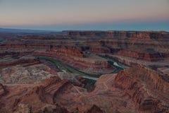 Fora da sombra da terra, parque estadual do ponto do cavalo inoperante, Utá, EUA imagens de stock