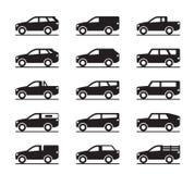 Fora das estradas e dos veículos utilitario do esporte ilustração stock