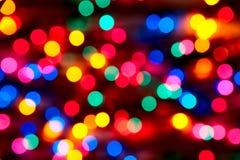 Fora das luzes de Natal do foco Foto de Stock Royalty Free