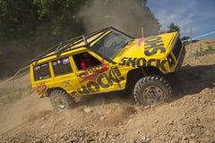 Fora de estrada amarelo Fotografia de Stock Royalty Free