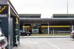 Fora de Wellington International Airport a nível da partida fotos de stock royalty free