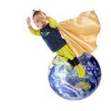 Fora deste super-herói do mundo foto de stock